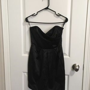 Satin Pleated Tube Dress